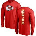 ファナティクス ブランデッド メンズ Tシャツ トップス Kansas City Chiefs NFL Pro Line Personalized Backer Long Sleeve T-Shirt