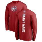 ファナティクス ブランデッド メンズ Tシャツ トップス Montreal Canadiens Fanatics Branded Personalized Backer Long Sleeve T-Shirt