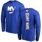 ファナティクス ブランデッド メンズ Tシャツ トップス New York Islanders Fanatics Branded Personalized Backer Long Sleeve T-Shirt