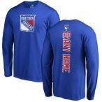 ファナティクス ブランデッド メンズ Tシャツ トップス New York Rangers Fanatics Branded Personalized Backer Long Sleeve T-Shirt