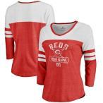 ファナティクス ブランデッド レディース Tシャツ トップス Cincinnati Reds Fanatics Branded Women's Personalized Base Runner Tri-Blend Thre