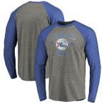 ファナティクス ブランデッド メンズ Tシャツ トップス Philadelphia 76ers Fanatics Branded Heritage Big and Tall Long Sleeve Tri-Blend