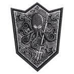 ミリタリーワッペン Octopus シールド型 ベルクロ 刺繍 ミリタリーパッチ たこ オクトパス 盾型 アップリケ 記章 スリーブバッジ