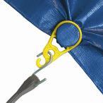 穴あけ不要のグロメット 樹脂スナップ 4個 タープ、ブルーシート用 タープ用金具 タープ金具 ロープタイトナー