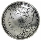 モルガンコンチョ レプリカ ダラー 1ドル硬貨 女神 [ 通常ネジ ]