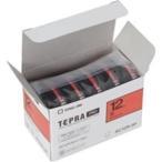 キングジム テプラ PROテープ/ラベルライター用テープ 〔幅:12mm〕 5個入り カラーラベル(赤) SC12R-5P