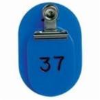 西敬 親子札/番号札 #7155 BO-1B 1〜50(50組) 青
