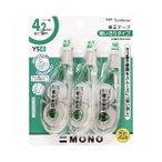 (まとめ) トンボ鉛筆 修正テープ モノYS4 4.2mm幅×10m 緑 KCA-325 1パック(3個) 〔×5セット〕