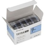 (業務用10セット) キングジム テプラ PROテープ/ラベルライター用テープ 〔幅:6mm〕 5個入り カラーラベル(青) SC6B-5P