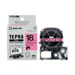 (まとめ)キングジム PROテープ マグネット ピン/黒字 SJ18P〔×30セット〕