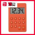 (まとめ)タニタ デジタルタイマー100分計オレンジ TD-415-OR 1個〔×5セット〕