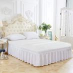 Powanfity ベッドスカート アンティーク風 簡単フィット ベッドスプレッド ベッドカバー シーツカバー おしゃれ(キング)