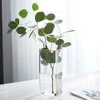 ガラス花瓶 ガラスフラワーベース おしゃれ花瓶北欧 Fukukaガラスボトル 水耕栽培 インテリア飾り 大きい花瓶 (クリアA)