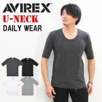 アビレックス/AVIREX 5分袖 リブTシャツ Uネック 6193142