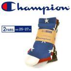 高袜 - チャンピオン/Champion 2P ソックス 星条旗柄 ロングソックス 靴下 ハイソックス ロング丈 CMSBG005