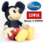 EDWIN★Disney オールデニムぬいぐるみ ミッキーマウス VINTAGE ヴィンテージ マスコット ドール ヌイグルミ 人形 QNAK10-0065
