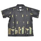 ショッピングNORTH 5 WHISTLE TIKI BAR S/S SHIRTS (BLACK) ファイブホイッスル ハワイアン シャツ【NORTH NO NAME/ノースノーネーム】