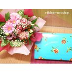 【勤労感謝の日】季節のお花のブーケ(生花)&【銀座千疋屋】銀座レアチーズケーキAセット FL-G-015