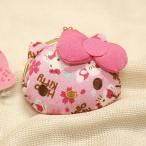 【ゆうメール配送可能】【Hello kitty】●マルチポーチ●Hello kitty  ハローキティ 和雑貨シリーズ がまぐち (ピンク/桜) KT-GMW-PS ZAKA-36