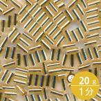 ミユキ 竹ビーズ 1分 1.5x3.0mm #3(#42) ゴールド(金茶銀引) 20グラムバラ 約1,660粒入り
