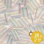 ミユキ 竹ビーズ 2分 1.7x6.0mm #2442 アイボリースキゴールドラスター 20グラムバラ 約760粒入り