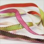 Yahoo! Yahoo!ショッピング(ヤフー ショッピング)シルキー リバーシブル ステッチ サテン テープ 15mm メーター売 全20色 SHINDO 服飾 手芸 ラッピング ハンドメイド アクセサリー SIC-126-15