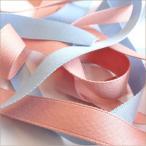 ポリエステル 朱子織 両面 サテン テープ 15mm メーター売 全80色 SHINDO 服飾 手芸 ラッピング ハンドメイド アクセサリー SIC-133-15