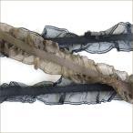ダブルフリル ストレッチ 19mm メーター売 全14色 手芸用 SHINDO 高級 リボン テープ アパレル ハンドメイド