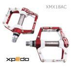 XPEDO アルミペダル XMX18AC レッド ホワイト 赤白 エクスペド フラットペダル FACE OFF MX-18 MDU