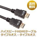 HDMIケーブル ハイスピードHDMIケーブル タイプAオス - タイプAオス 1m 送料無料