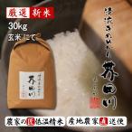 予約生産販売 令和元年秋収穫 米 30kg 玄米にて 清流きぬひかり芥田川 農家 産地直送
