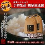 令和2年度 予約生産 米 お米 10kg×2 20kg 送料無料 無洗米 精米 奥播州源流芥田川産こしひかり芥田川
