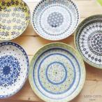 美しいボレスワヴィエツの街 ポタリーフィールド やっぱり大好き!パスタ カレープレート5個セット ポタリー風 陶器