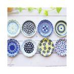 美しいボレスワヴィエツの街 8枚セット プチディッシュ 小皿 12cm (食器セット,ポタリー風,ポタリーフィールド)