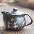 和食器 九谷焼 ティーポット 急須 お月見はねうさぎ ラビット 茶漉し付き お茶 紅茶 食器 日本製