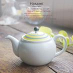 和食器 波佐見焼 マットサイドラインカラー ティーポット 茶こし付き黄色 イエロー 陶器 食器 うつわ おうち ごはん