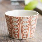 和食器 波佐見焼 蕎麦猪口 ダイヤ 赤 レッド そばちょこ うつわ 陶器 日本製 カフェ