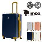 モズ スーツケース 76L 60.5cm 4.2kg レディース MZ-0798-60 moz   ハード ファスナー キャリーケース TSAロック搭載 拡張