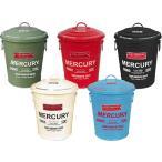 MERCURY マーキュリー ラウンド ダストビン フタ付き ブリキ製 ゴミ箱 バケツ IVORY アイボリー 他のカラーも選べます