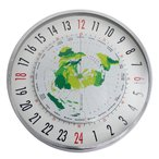 24時間時計 ワールドタイム クロック 掛け時計 世界時計