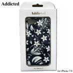 ショッピングメール便 メール便送料無料 Addicted アディクティッド for iPhone 7/8 対応 3D花 リトル iPhoneケース 携帯ケース アイフォンケース iPhone ブランド