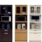 キッチンボード 食器棚 レンジボード ハイタイプ 幅60 高さ180 スリム 北欧 モダン 選べる 3色 完成品