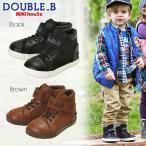 【アウトレットセール30%OFF】【メール便不可】【DOUBLE B ダブルビー】【箱無し】キャンバス素材のハイカットシューズ(15cm-19cm)【ミキハウス 靴】