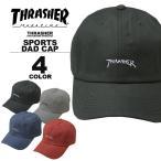 スラッシャー THRASHER GOMZ LOGO SPORTS CAP Dad HAT キャップ 帽子 ブラック 黒 ネイビー グレー レッド 赤 カーブキャップ ローキャップ メンズ レディース