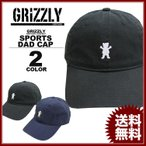 グリズリー GRIZZLY キャップ 帽子 OG BEAR SPORTS DAD CAP 帽子 カーブキャップ ローキャップ ブラック 黒 ネイビー メンズ レディース