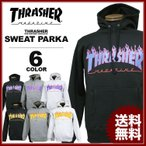 スラッシャー THRASHER スエット パーカー ブラック 黒 グレー ホワイト 白 FLAME 3C SWEAT PARKA フードスエット メンズ レディース