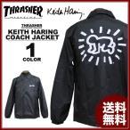 スラッシャー THRASHER コーチジャケット ブラック 黒 メンズ Keith Haring COACH JACKET キースヘリング コラボ