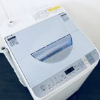 中古 シャープ SHARP 洗濯機 全自動洗濯機 2016年製 5.5kg ES-TX550-A