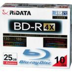 ライテック製  RiDATA  一回録画用BD-R  スリムケース  10枚入り BD-R130PW 4X.10P SC C  【×メール便不可】