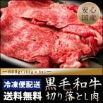 黒毛和牛 国産 肩ロース切り落とし 600g(200g×3パック) 冷凍便 黒毛和牛 送料無料